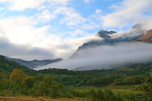 Mountains, Mountain Valley, Mountain Lake, Morning, Fog