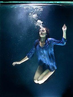 Blue, Underwater, Fashion, Fine Arts, Freedom, Life