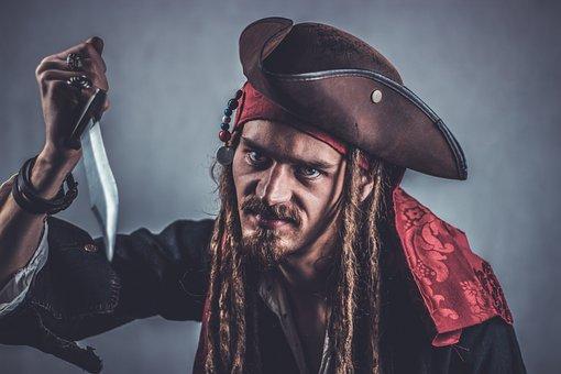 Pirate, Seafarer, Captain, Sailors, Evil, Halloween
