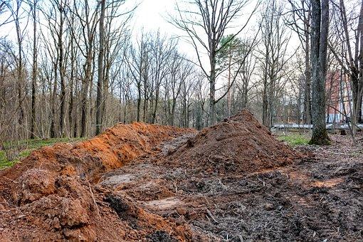 Trench, Land, Digging, Work, Strip, Excavation, Dig