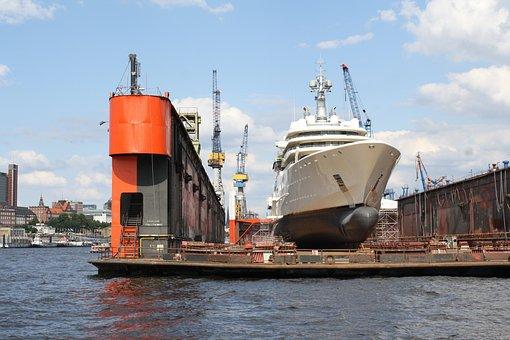 Luxury Yacht, Oligarch, Dry Dock, Same 17