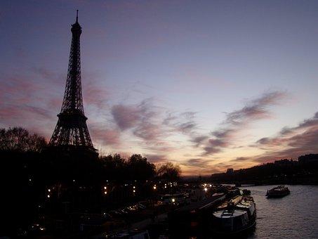 Eiffel Tower, Sunset In Paris, Monuments, Paris, Travel