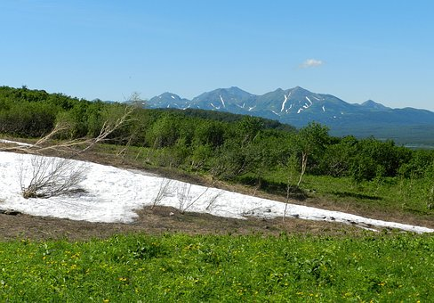 Mountains, Summer, Snow, Sneznik, Landscape, Nature