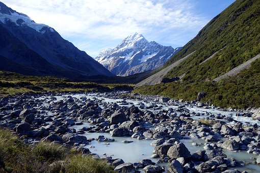 Nature, New Zealand, Mt Cook, Blue Cooking