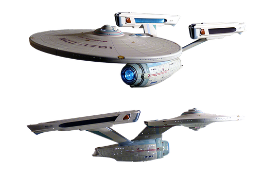 Spaceship, Model, Isolated, Enterprise, Science Fiction