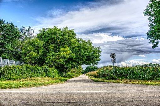 Road, Asphalt, Landscape, Agriculture, Cycle Path