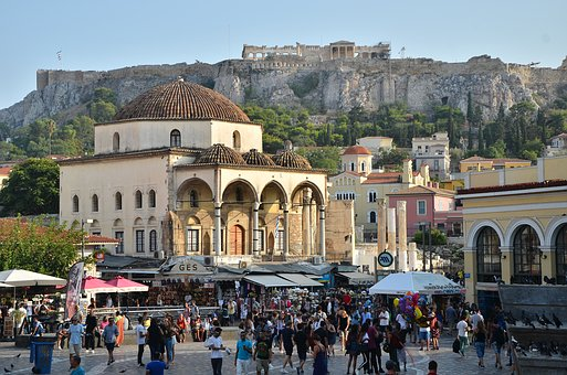 Greece, Athena, Culture, Acropolis, Plate, City