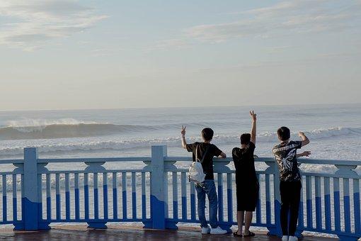 Happy, Emotion, People, Bench, Fun, Vacation, Sunrise