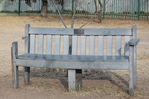 Bench, Park Seat, Sit, Chair, Grey, Outdoor, Park