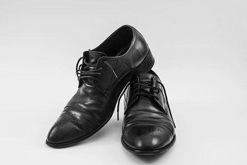 Black Shoes, Leather Shoes, Used Shoes