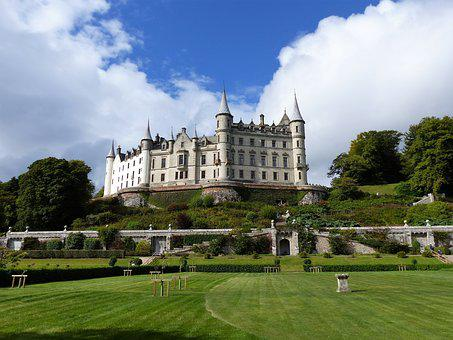 Dunrobin Castle, Scotland, Castle, Romantic