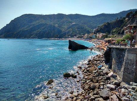 Cinque Terre, Liguria, Sea, Sun, Italy, Colors