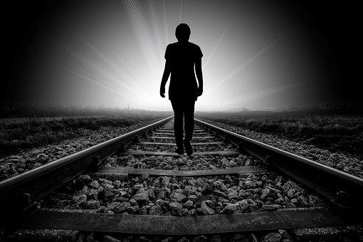 Beyond, Death, Faith, Gleise, Rail Track, Away, Steinig