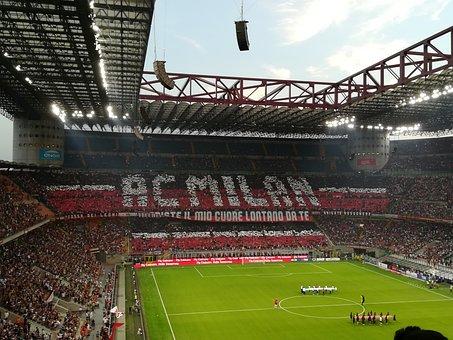 Stadium, The San Siro, Meazza, Milan, Football, Field
