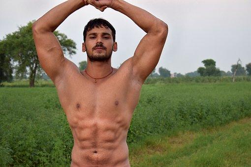 Six Pack, Farm, Bodybuilder, Fitness Photo