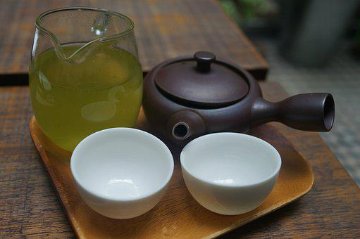 Green Tea, Tea For Two, Drink, Clay Pot, Friendship