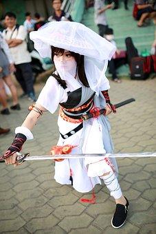 Ninja, Hero, Samurai, Cosplay, Warrior, Blade, Japanese