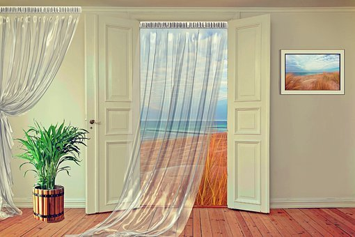 Room, Space, Apartment, Door, Hinged Doors, Setup