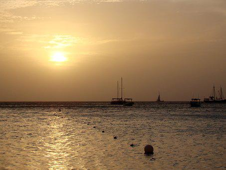 Sunset, Aruba, One Happy Island, Landscape, Beach