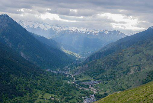 Mountains, Landscapes, Nature, Pyrenees, Clouds