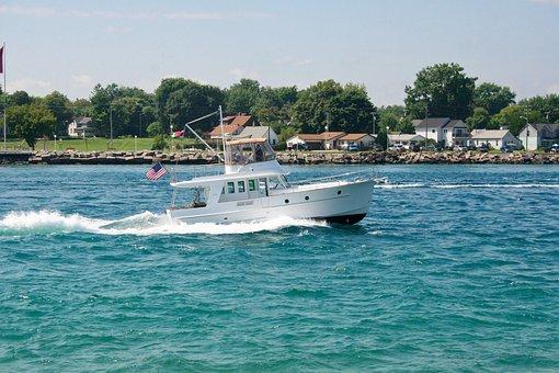 Boat, Motor, Speed, Motorboat, Motor Boat, Water, Sea