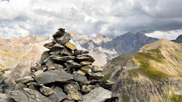 Cairn, Pile Of Stones, Mound Of Stones, Mountain