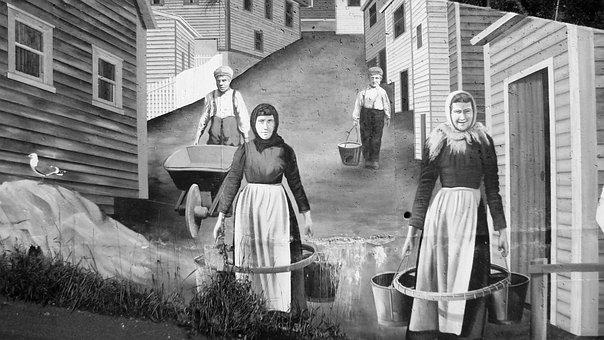 Mural, Painting, Art, Community, Workers, Village