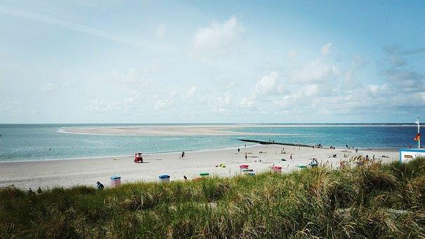 Beach, Borkum, North Sea, Island, North Sea Island Of
