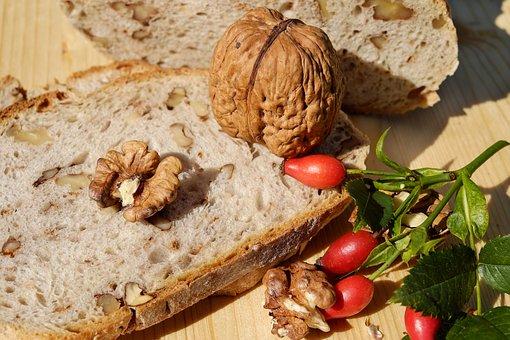 Bread, Nut Bread, Walnut Bread, Nutrition, Vegetarian