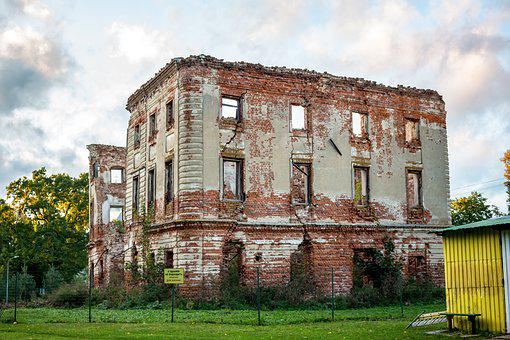 Belkino, The Ruins Of The, Homestead, Obninsk, Russia