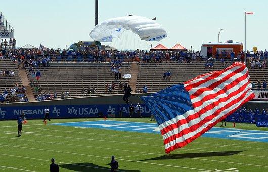 Flag, Parachute, Sport, Air, Flight, Extreme, Sky