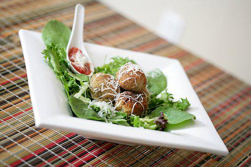 Meatballs, White, Plate, Meat, Food, Meal, Healthy