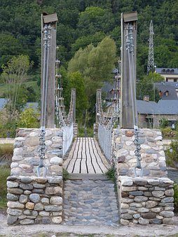 Suspension Bridge, Noguera Ribagorçana, River