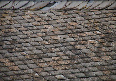 Roof, Roof Renovation, Old, Weathered, Damaged, Slate