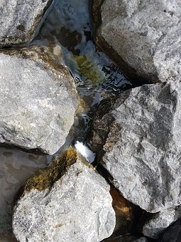 Rocks, Stone, Water, Nature, Natural, Texture, Material