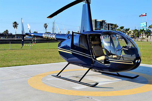 Helicopter, Galveston, Texas, Seawall Boulevard