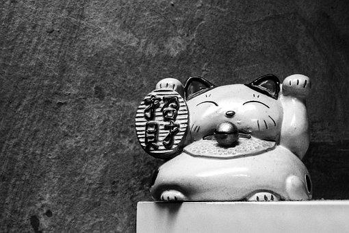 Japanese, Cat, Symbol, Japan, Animal, Traditional, Cute