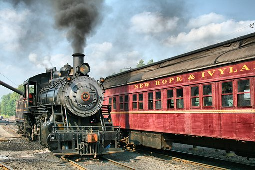 Locamotive, Train, Transportation, Engine, Track