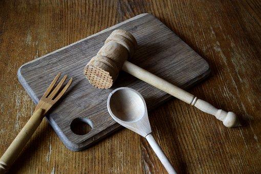 Kitchen, Utensils, Wooden, Cooking, Tools, Food, Rustic