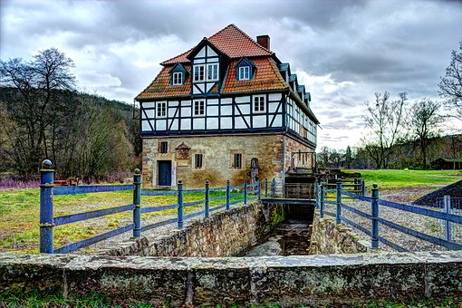 Mill, Old, Water Mill, Historically, Building