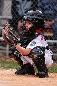 Baseball, Catcher, Little League, Player, Sport, Action