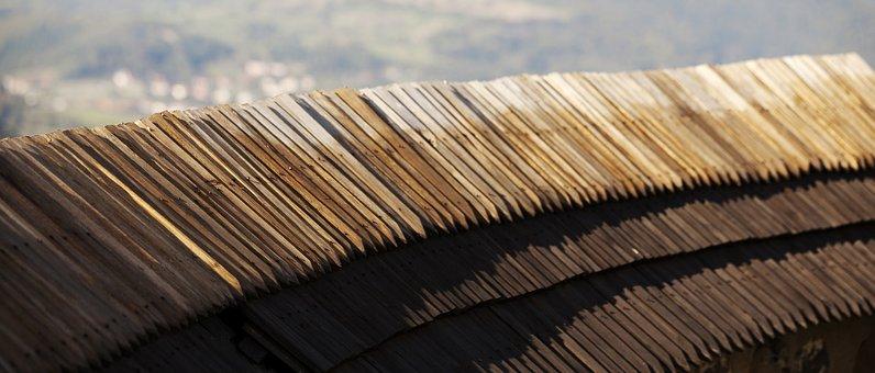 Wood Shingles, Old Walls, Banská štiavnica, Calvary