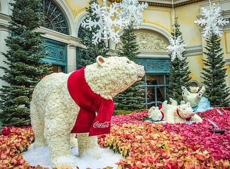 Polar Bears, Bellagio, Las Vegas, Decoration, Famous
