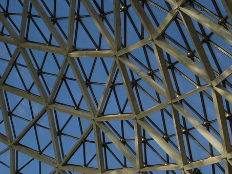 Glass Roof, Botanical Garden, Building, Greenhouse