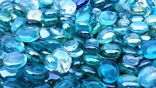 Blue, Green, Crystal, Glass, Bright, Transparent