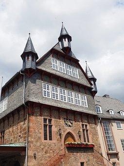 Town Hall, House, Amtshaus, Building, Window, Shingle