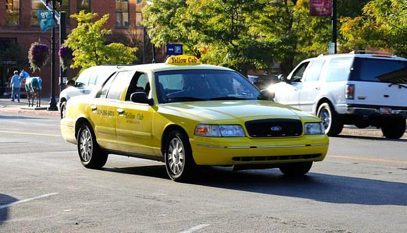 Taxi, Cab, Yellow, Transport, Car, Automobile, Vehicle