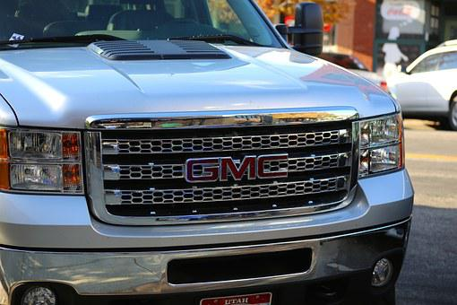 Gmc, Car, Truck, Chrome, Grill, Traffic, Usa, Yellow