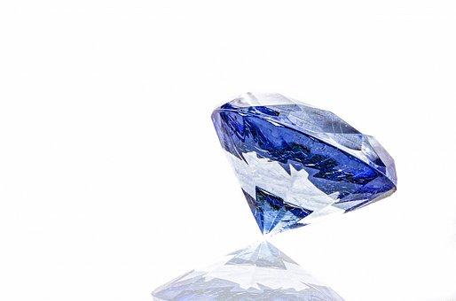 Diamond, Blue, Shine, Clear, Stone, Expensive, White