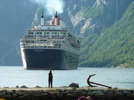 Ship, Passenger Ship, Cruise Ship, Norway, Fjord